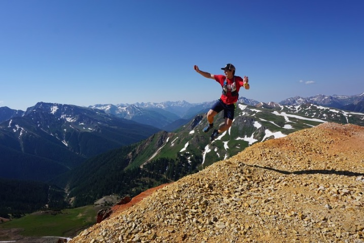 aaron jumping on red mtn